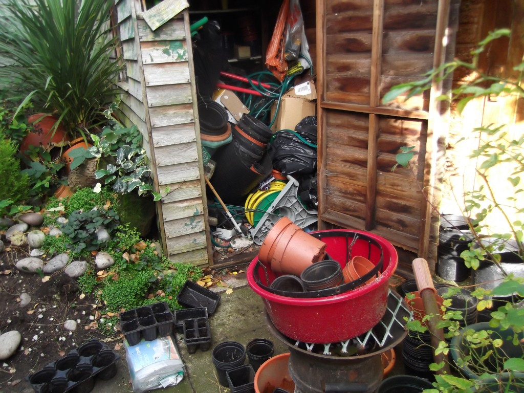 Time to sort the potting shed.